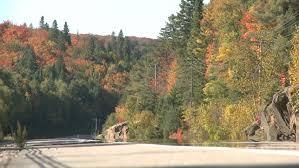 algonquin park canada sep 24 car passing highway