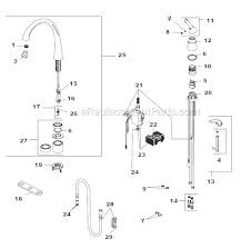delta kitchen faucet sprayer replacement delta faucet 4380t dst parts list and diagram with kitchen