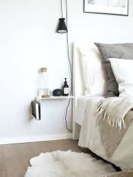 tiny bedside table side table love this menu pendant light next to the bed and that