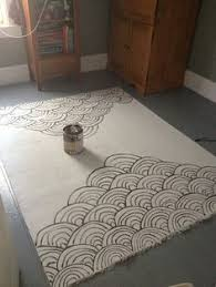 Painted Rug Stencils How To Stencil A Rug On The Cheap Stenciling Craft And Apartments