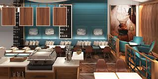 good looking restaurant concept ideas with black wooden rectangle
