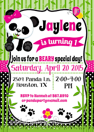 Panda Baby Shower Invitations - panda birthday invitation panda invitation panda baby shower