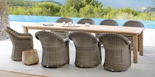 Outdoorwickerwooddiningchairstablegardens - Wooden dining table with wicker chairs