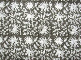 Block Print Wallpaper 2 5 To 50 Yards Hand Block Print Fabric Vegetable Natural Color