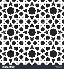 moroccan pattern eastern traditional style oriental stock vector