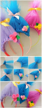 hairstyles with haedband accessories video baby accessories video how to make these fun troll hair headbands