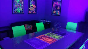 how to use black light paint black light curtains bedroom party games blacklight channel how to