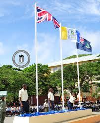 Virgin Islands Flag Elmore Stoutt High Hoists New Flag Government Of The