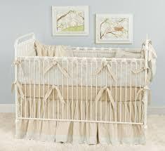 Beige Crib Bedding Set Blue Beige Toile Baby Bedding For A Shabby Chic Nursery