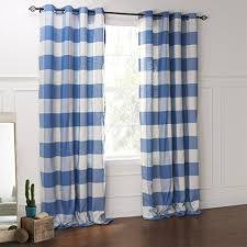 Plaid Blackout Curtains Iyuegou Country Blue And White Plaid Eco Friendy Grommet