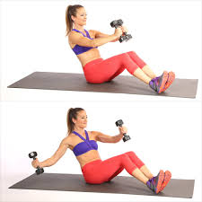 v sit with single arm chest fly ab exercises for popsugar