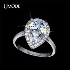 White Gold Cz Wedding Rings by Aliexpress Com Buy Umode Brand Wedding Rings For Women White