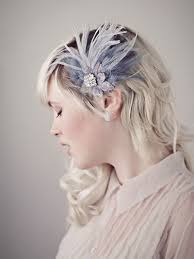 feather hair clip antoinette dusty gray feather hair clip fascinator bridal