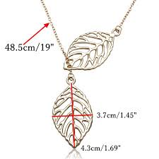 leaf pendant necklace images Vintage gold silver big leaf pendant clavicle chain necklace for jpg