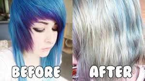 how to remove semi permanent hair dye c no bleach youtube