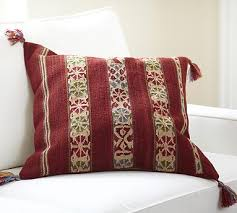 Pottery Barn Kilim Pillow Cover Red Dhurrie Stripe Pillow Cover Potterybarn The Best Holiday