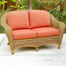 Outdoor Wicker Settee Cushions by Furniture Bayshore Outdoor Wicker Loveseat For Patio Furniture Ideas