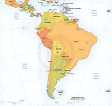Maps South America by Vector Map Continent South America Graphics Creative Market