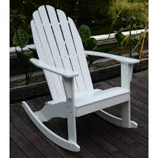 Wooden Rocking Chair Outdoor Adirondack Rocking Chair White Walmart Com