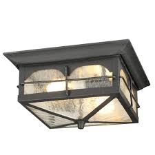 Outdoor Flush Mount Ceiling Light Home Decorators Collection Brimfield 2 Light Aged Iron Outdoor