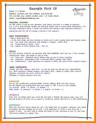 6 student cv example childcare resume