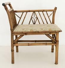 bench bamboo bench seat english bamboo upholstered bench seat