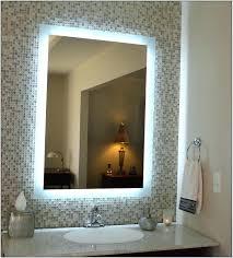 mirrors backlit mirror diy w single wall led mirror backlit