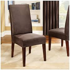 dining room chair slipcover amazon com sure fit stretch leather shorty dining room chair