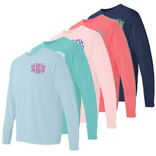 Long Sleeve Comfort Colors Comfort Colors Long Sleeve Monogram T Shirt Southern Stitchworks