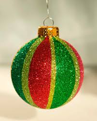 affordable christmas crafts glitter ornaments ornament and