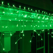 icicle light 150 green icicle lights white wire
