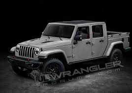 small jeep wrangler 2019 jeep wrangler pickup rendered