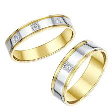 Wedding Rings Sets His And Hers by Wedding Ring His And Hers Designer Two Colour Gold Wedding Ring