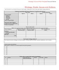 strategic account plan template download at four quadrant