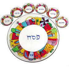 buy seder plate buy yair emanuel painted glass jerusalem seder plate israel catalog