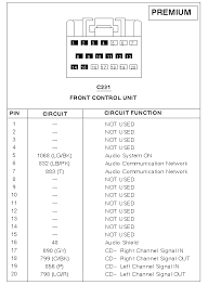 2005 escape audio pinout