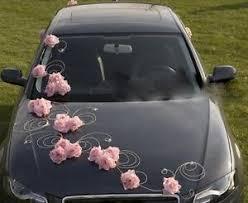 Light Pink Car Wedding Car Decoration Ribbon Bows Prom Limo Decoration Greta