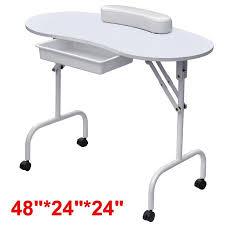 Computer Technician Desk Yaheetech Portable U0026 Foldable Manicure Table Nail Technician Desk