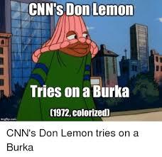 Burka Meme - cnn s don lemon tries on a burka 1972 colorized imgflipcom 1972