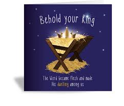 christian cards multipack of 3 behold your king