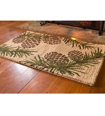 Fire Proof Hearth Rugs Wool Hearth Rug In Pine Cone Design 2 U00273