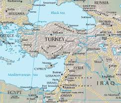 middle east map water bodies map of turkey with surrounding countries and bodies of water