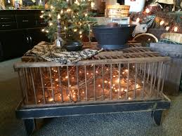 awesome prim chicken crate coffee table the primitive country