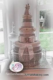 5 tier cake stand ribbons pearls wedding cake designs eats bakery s