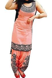 dress pic suppar sleave orange color galce cotton patiyala dress for