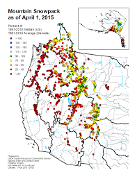Map Of The Western States by Mountain Snowpack Map Western Us