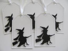 witch halloween tags halloween favor tags witch gift tags