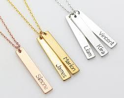 nameplate bar necklace minthologie studio on etsy seller reviews marketplace rating