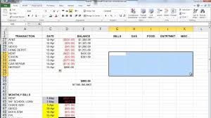 Monthly Bills Spreadsheet The Basics Of Microsoft Excel How To Create A Budget And Manage
