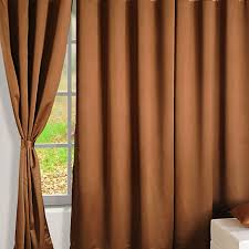 Brown Gold Curtains Buy Brown Gold Blackout Curtains Plain Readymade Eyelet Curtains